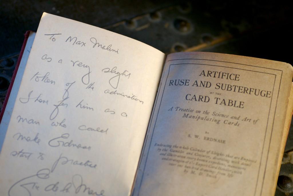 Erdnase-Max-Malini-Book-signature